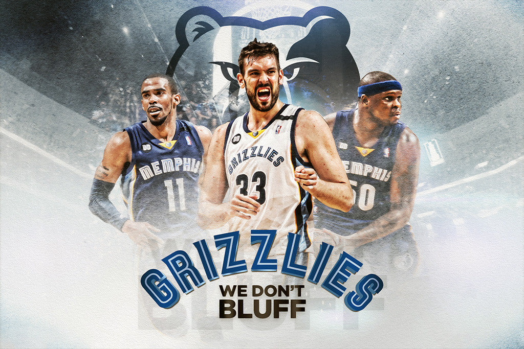 Marc Gasol Mike Conley Zach Randolph Basketball NBA Poster