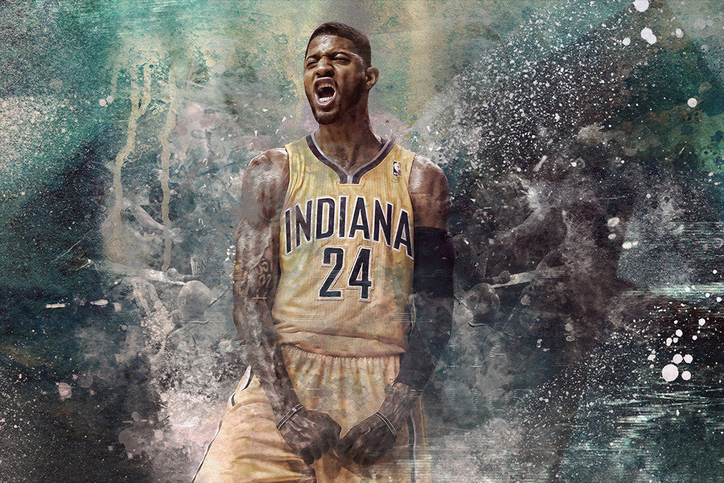 Paul George Basketball NBA Poster