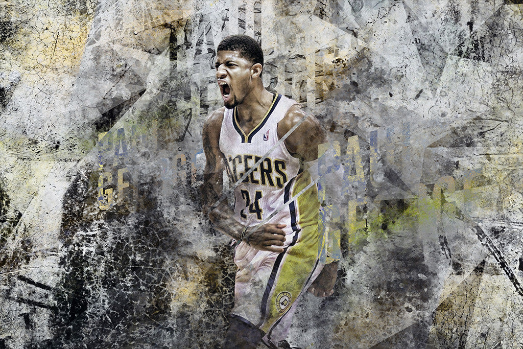 Paul George Indiana Pacers Basketball NBA Poster