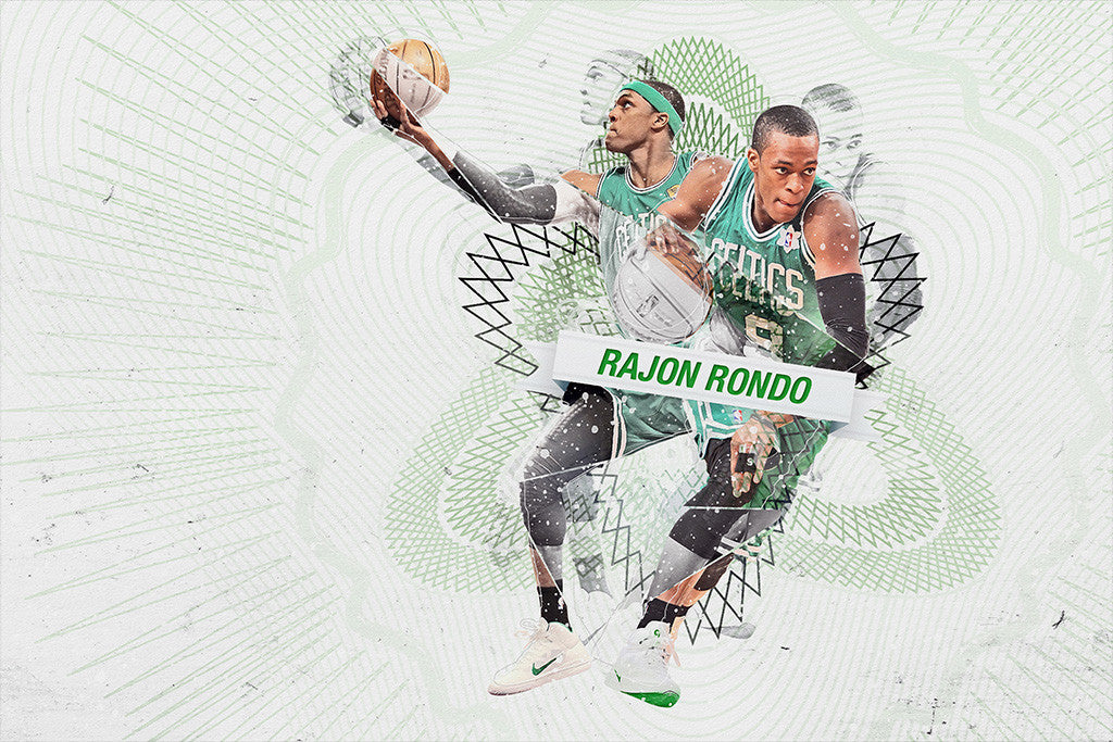 Rajon Rondo Boston Celtics Basketball NBA Poster