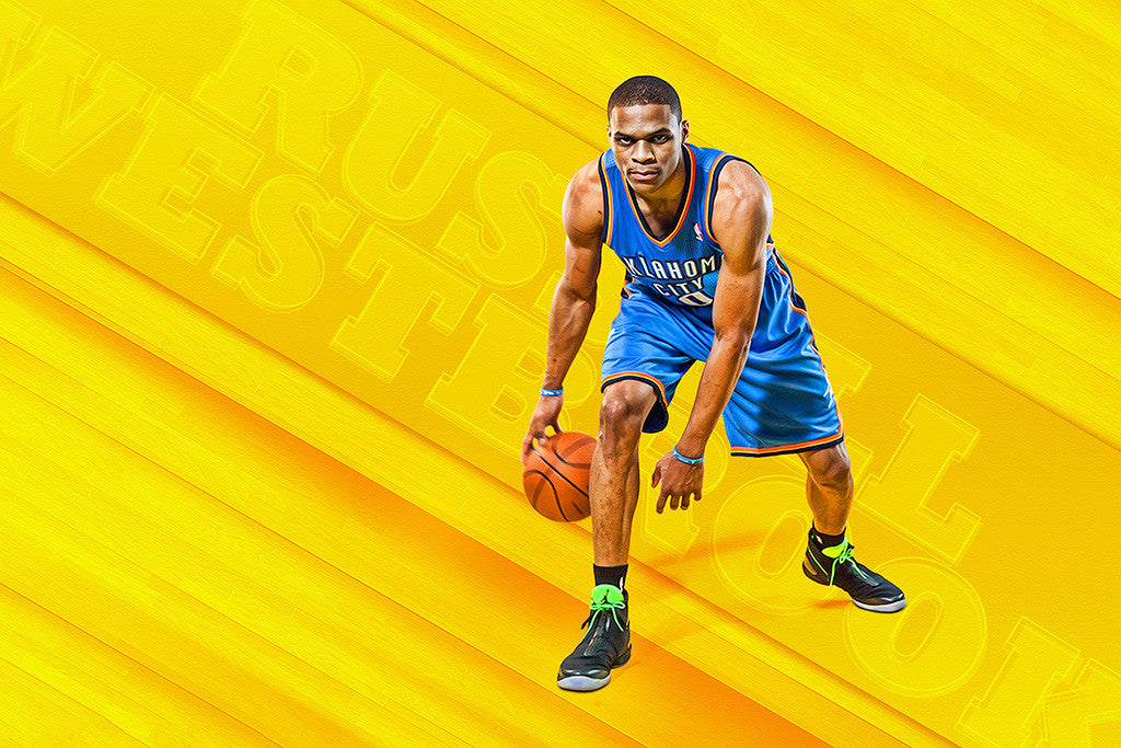 Russell Westbrook Oklahoma City Thunder Basketball NBA Poster