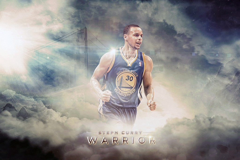 Stephen Curry Golden State Warriors Basketball NBA Poster