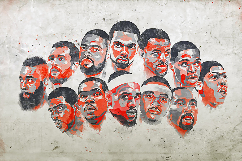 Team USA Basketball NBA Poster