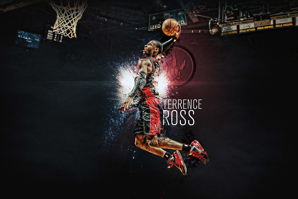 Terrence Ross Toronto Raptors Basketball NBA Poster