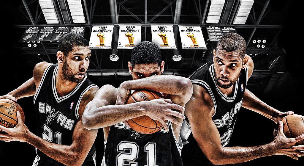 Tim Duncan San Antonio Spurs Basketball NBA Poster