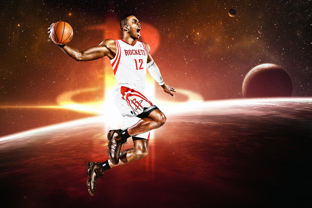 Dwight Howard Houston Rockets Basketball NBA Poster