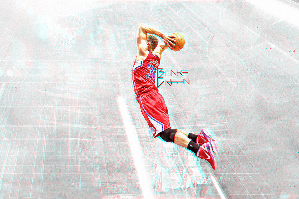 Blake Griffin Basketball NBA Poster