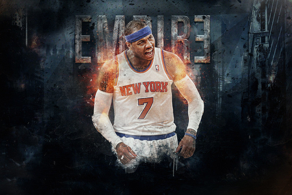 Carmelo Anthony Basketball NBA Poster