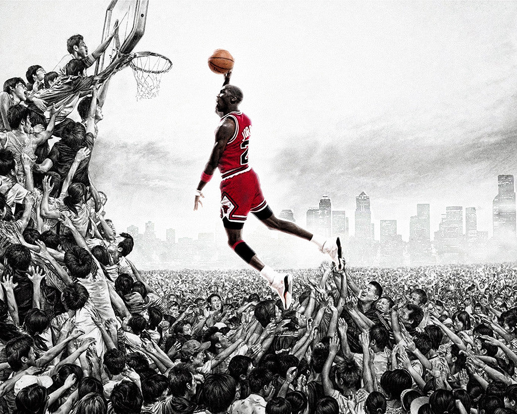 Michael Jordan Chicago Bulls Basketball NBA Poster