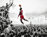 Michael Jordan Chicago Bulls Basketball NBA Player Poster