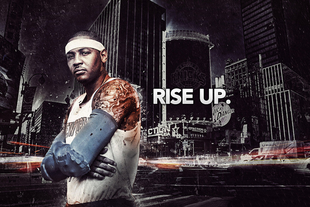 Carmelo Anthony New York Knicks Basketball NBA Poster