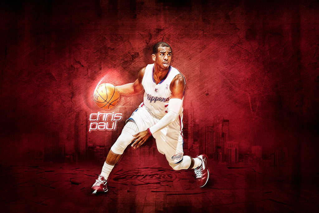 Chris Paul Los Angeles Clippers Basketball NBA Poster