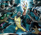 Kobe Bryant Lebron James NBA Basketball Poster