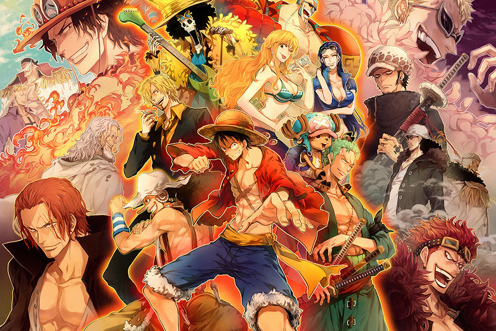 One Piece Characters Anime Poster