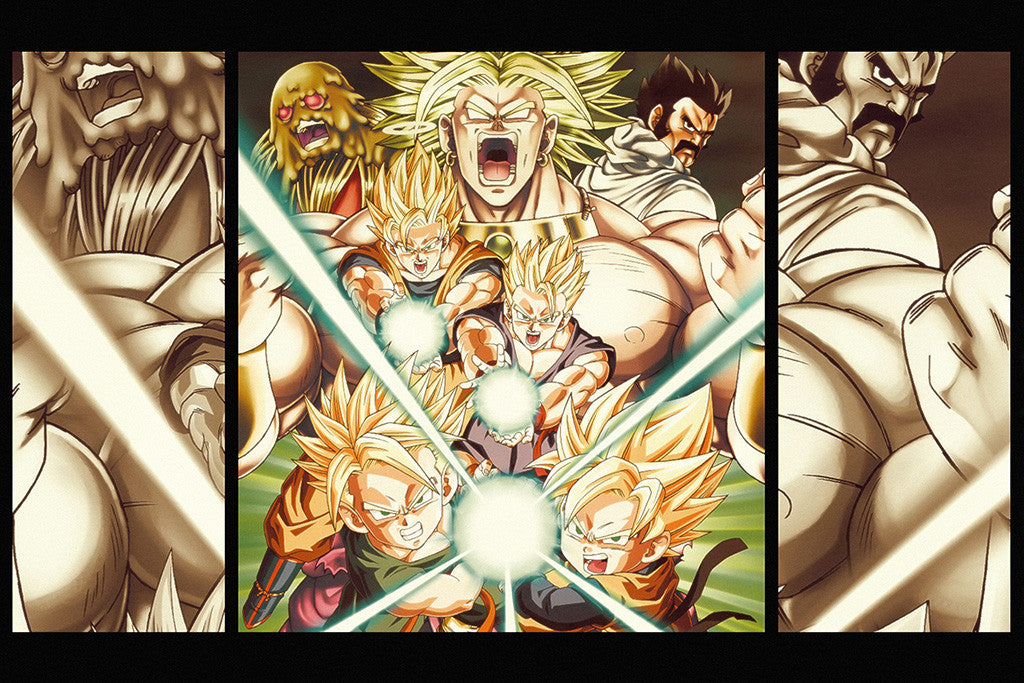 Dragon Ball Z Characters Anime Poster
