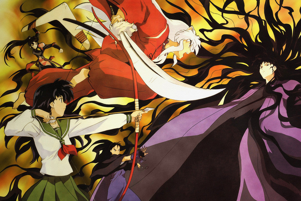 Inuyasha And Kagome Anime Poster