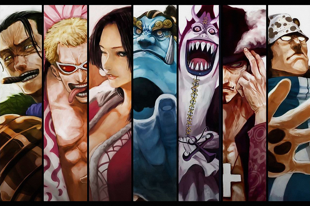 One Piece Team Characters Anime Poster