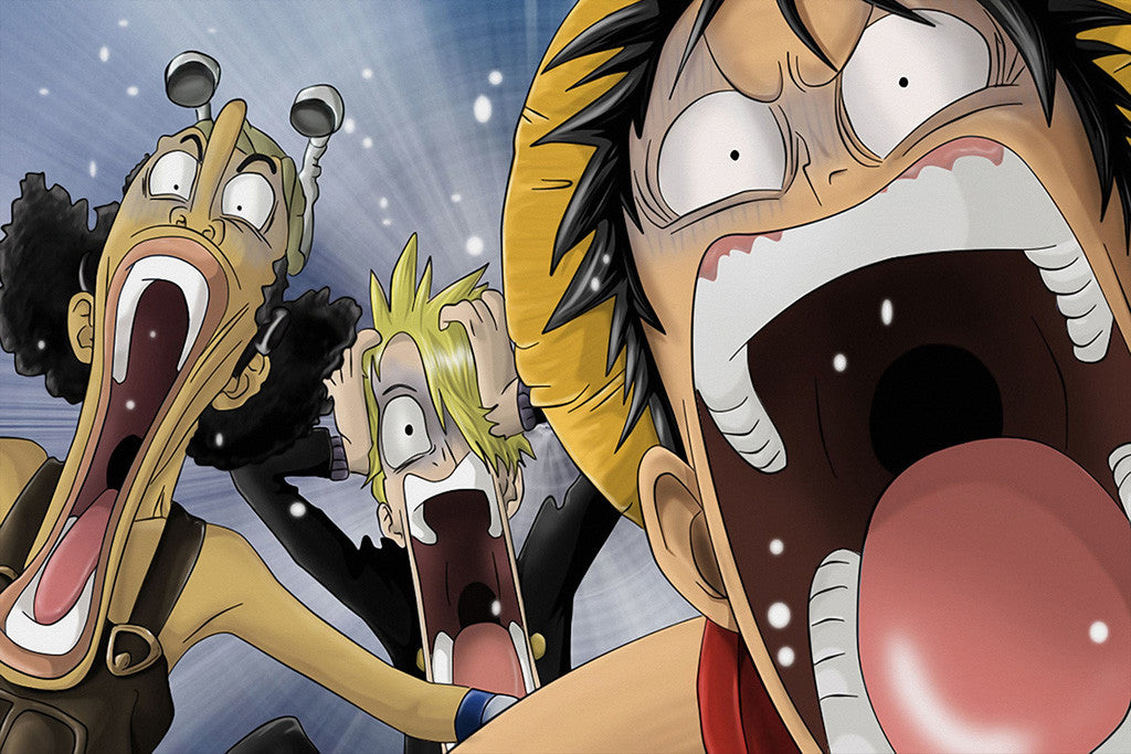 One Piece Scream Anime Poster