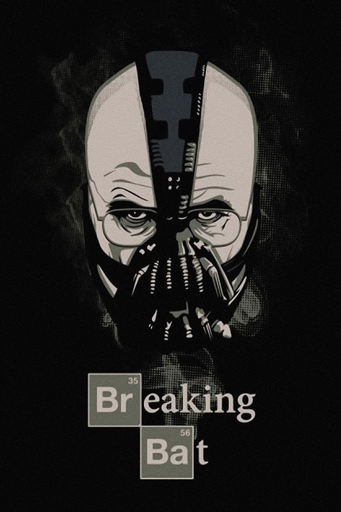 Breaking Bad Breaking Bat Walter White Bane Batman Poster