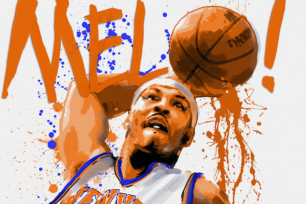 Carmelo Anthony Ball Basketball NBA Poster