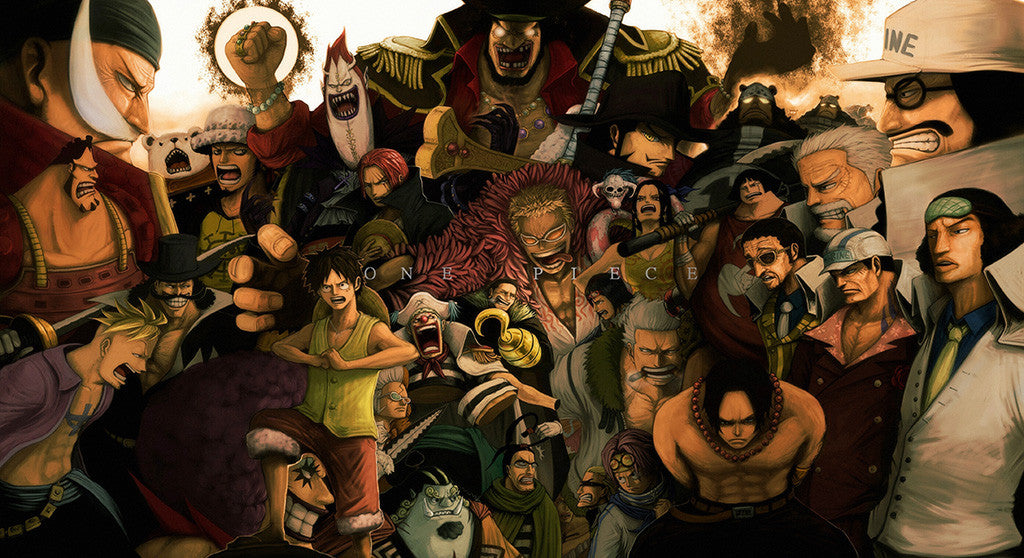 One Piece All Characters Anime Poster