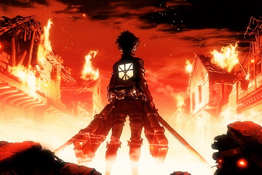 Attack On Titan Fire Anime Poster