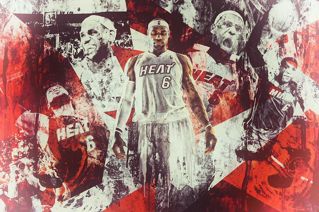 Lebron James Basketball NBA Poster