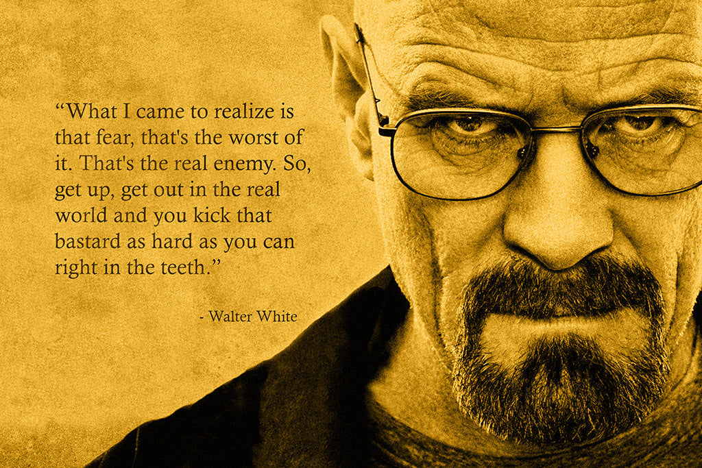 Breaking Bad Walter White Quotes Poster