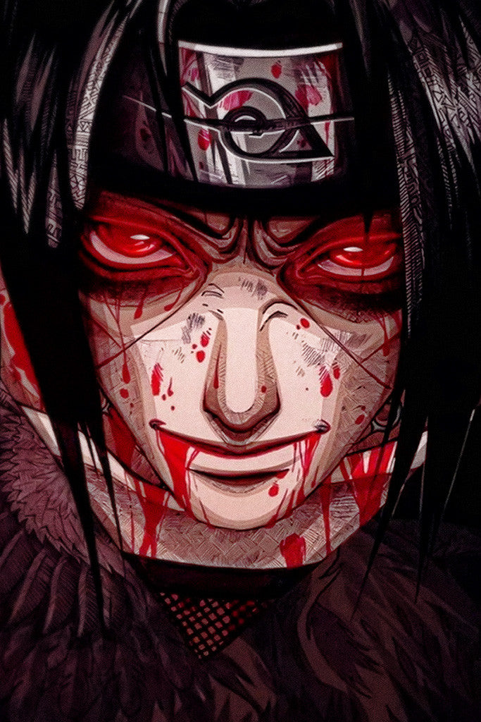 Itachi Uchiha Red Eyes Naruto Anime Poster