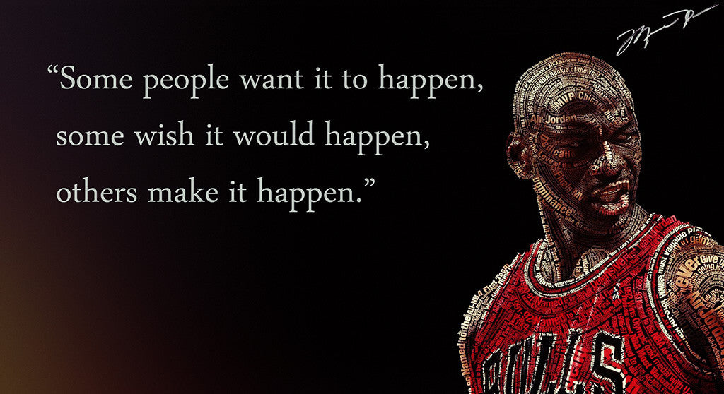 Chicago Bulls Michael Jordan Quotes Basketball NBA Poster