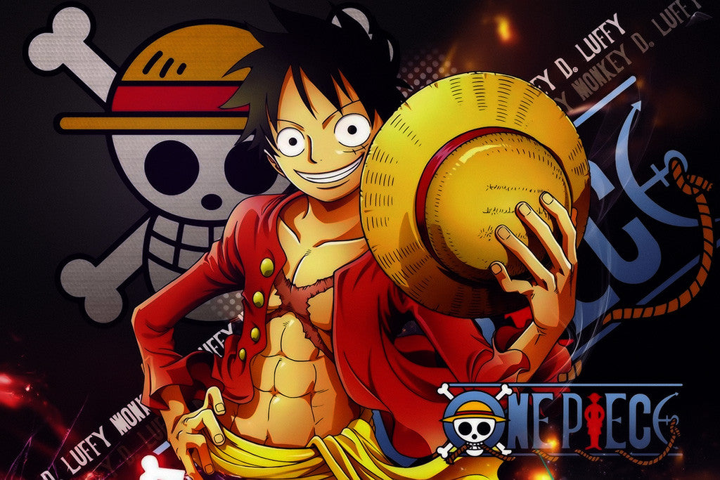 One Piece World Luffy Anime Poster
