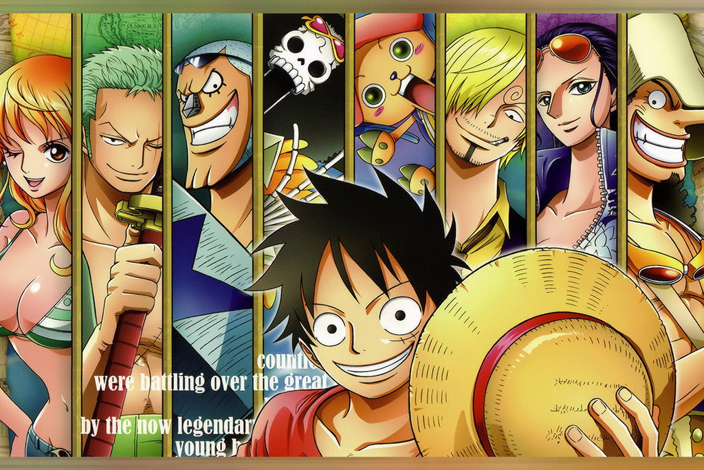 One Piece Luffy Team Characters Anime Poster