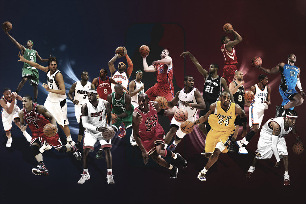 All Star Lebron James Kobe Bryant Michael Jordan Basketball NBA Poster