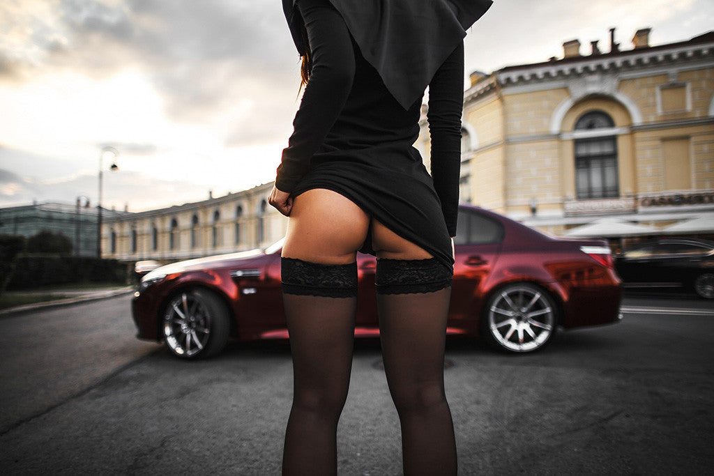 BMW 5 Series Hot Girl E60 Poster