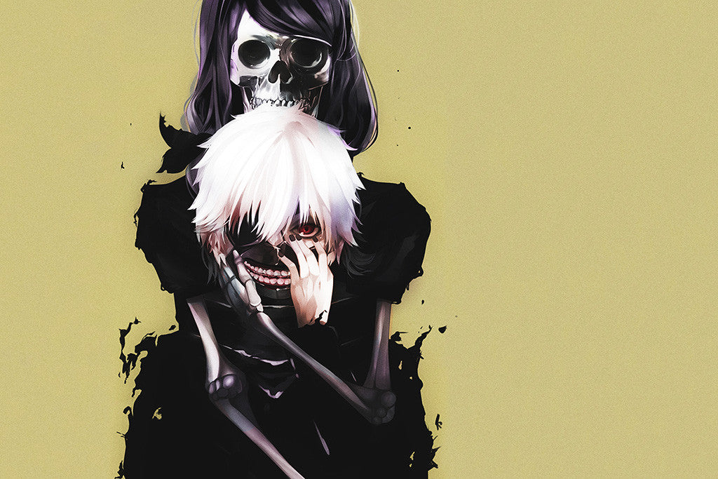 Kaneki Ken And Rize Anime Poster