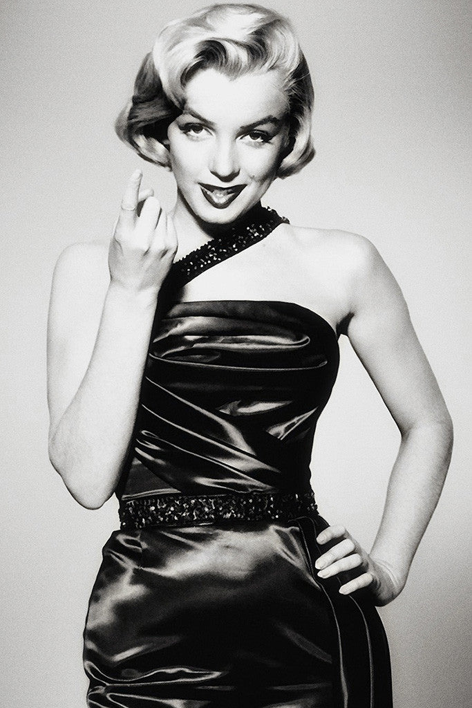 Marilyn Monroe How To Marry A Millionaire Black and White Poster