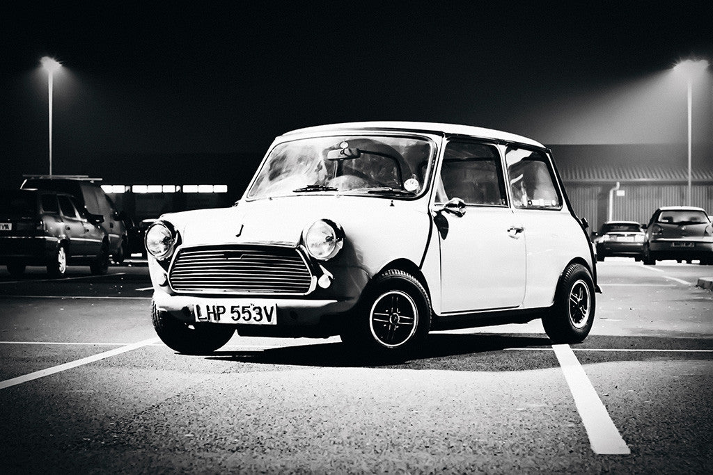 Mini Cooper Classic Retro Car Auto Poster