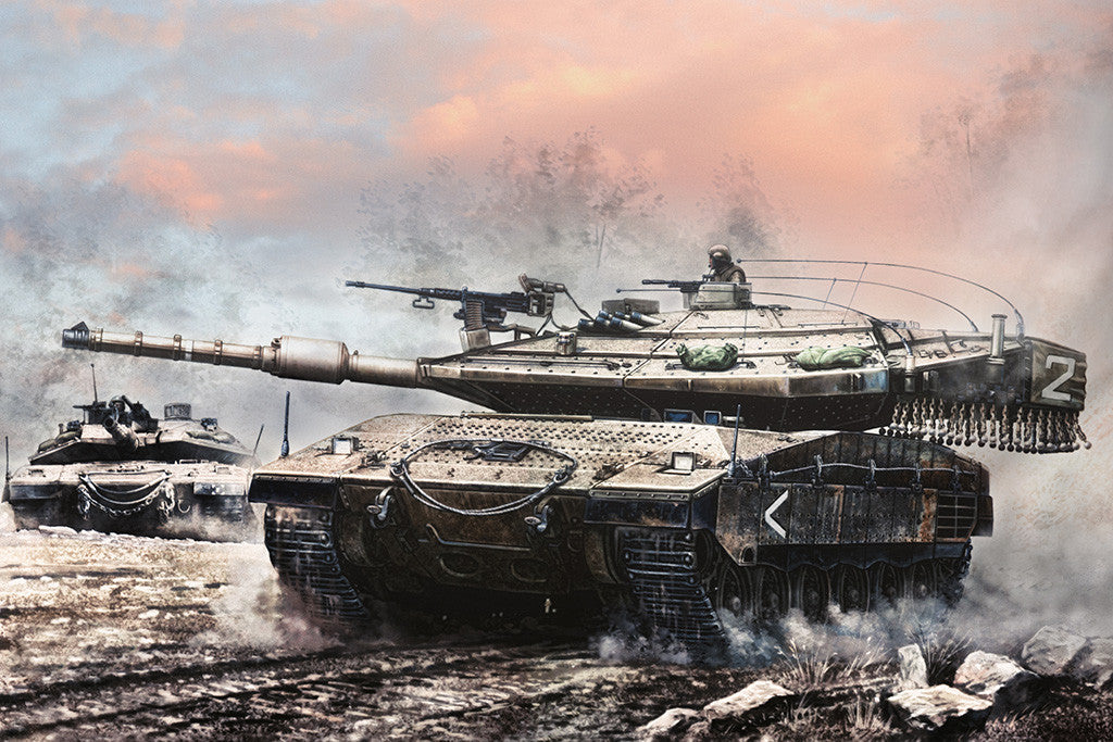 Merkava Mk 4 Tanks Armored Vehicles Weapons Poster