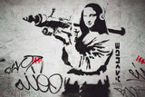 Banksy Mona Lisa Grenade Launcher Weapon Graffiti Poster