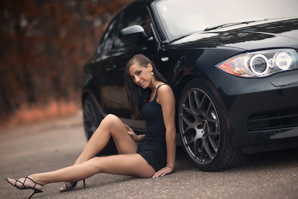 Black Bmw 3 Series Hot Girl Poster My Hot Posters Poster