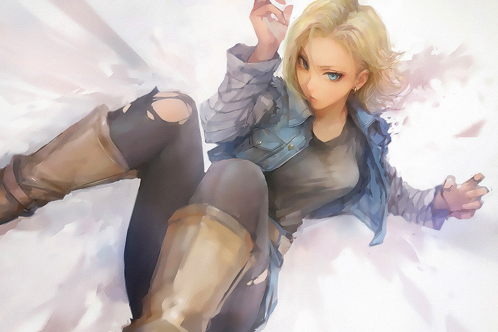 Dragon Ball Z Android 18 Anime Poster