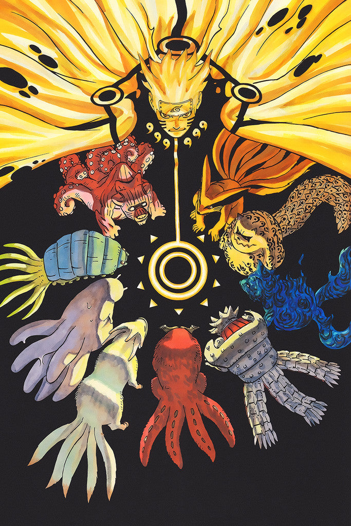 Naruto Shippuden Anime Animal Tails Poster - My Hot Posters