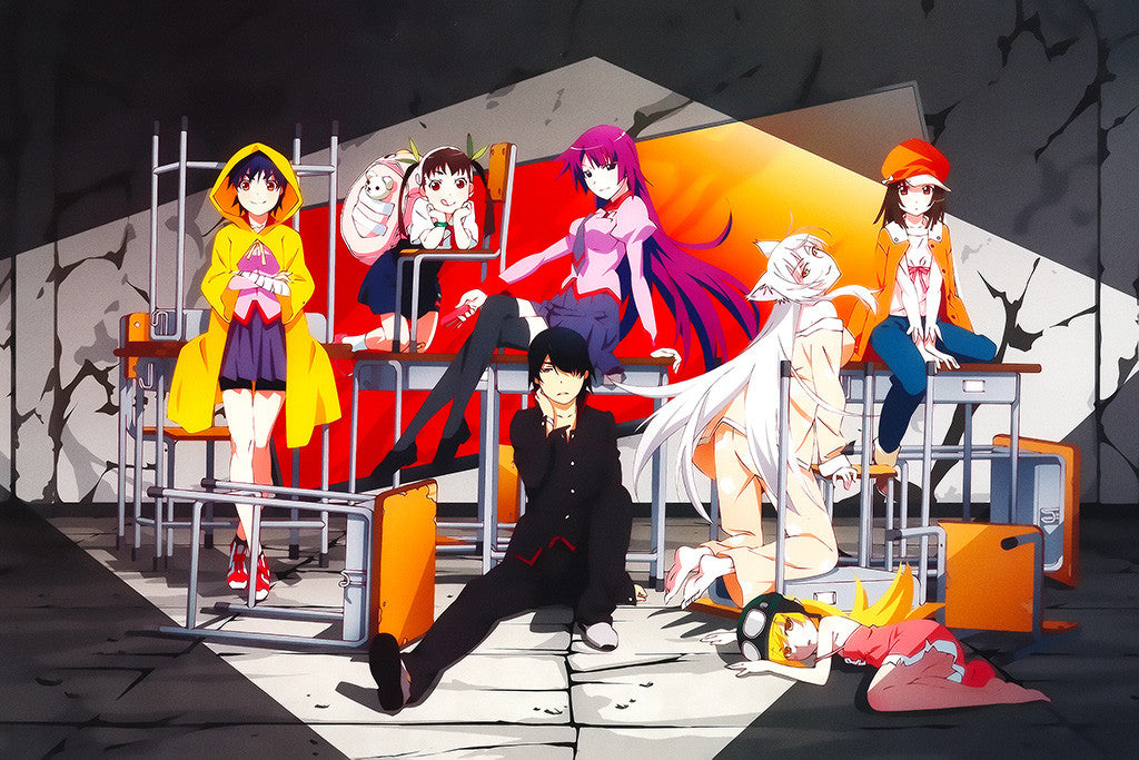 Monogatari Series Main Characters Novel Series Poster