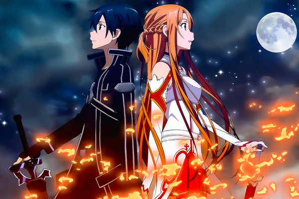 Sword Art Online Sao Kirito Asuna Anime Poster My Hot
