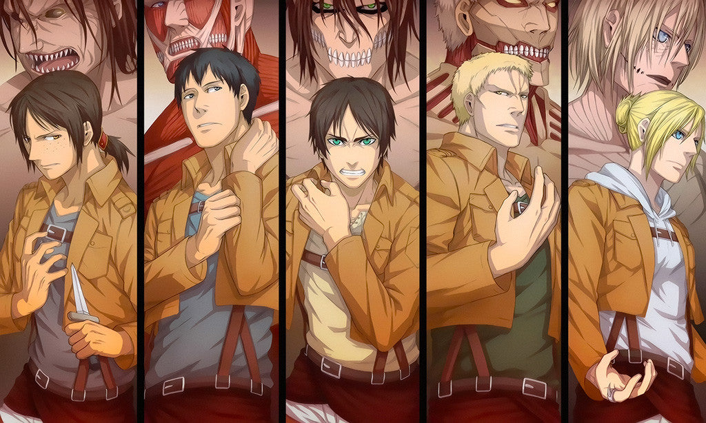 Attack On Titan Titan Form Anime Poster