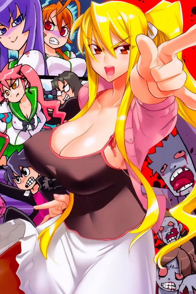High School Of The Dead Sexy Girl Big Tits Anime Poster