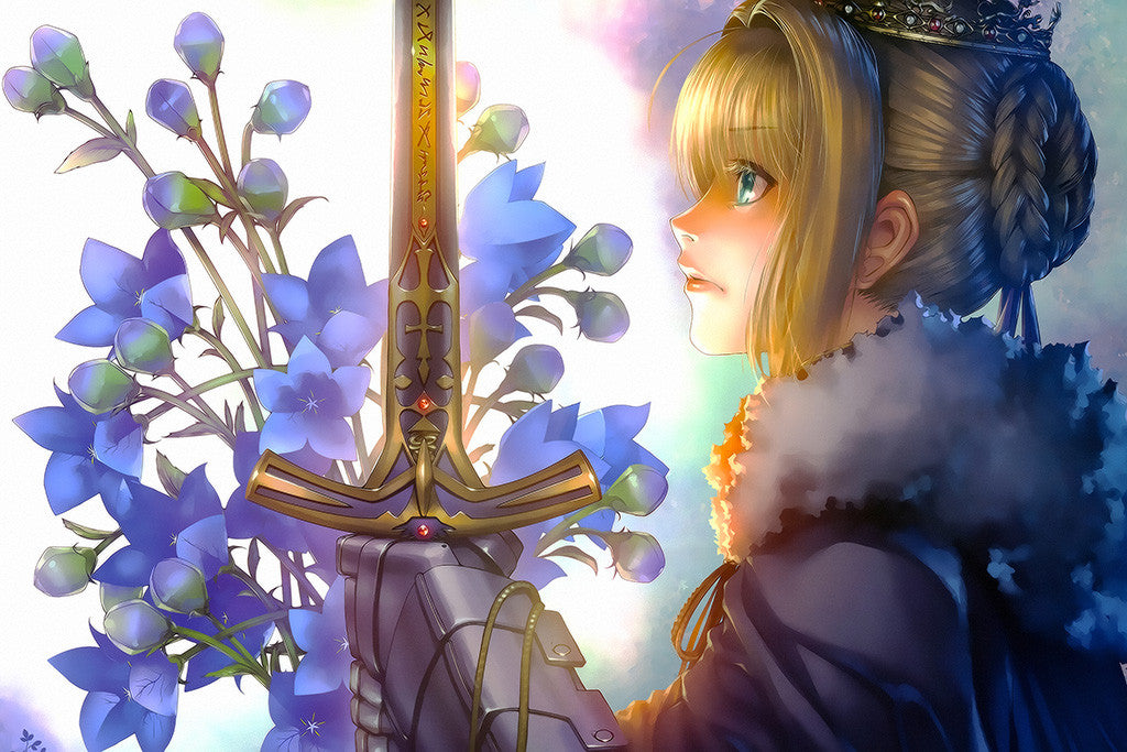 Fate Stay Night Saber Anime Poster