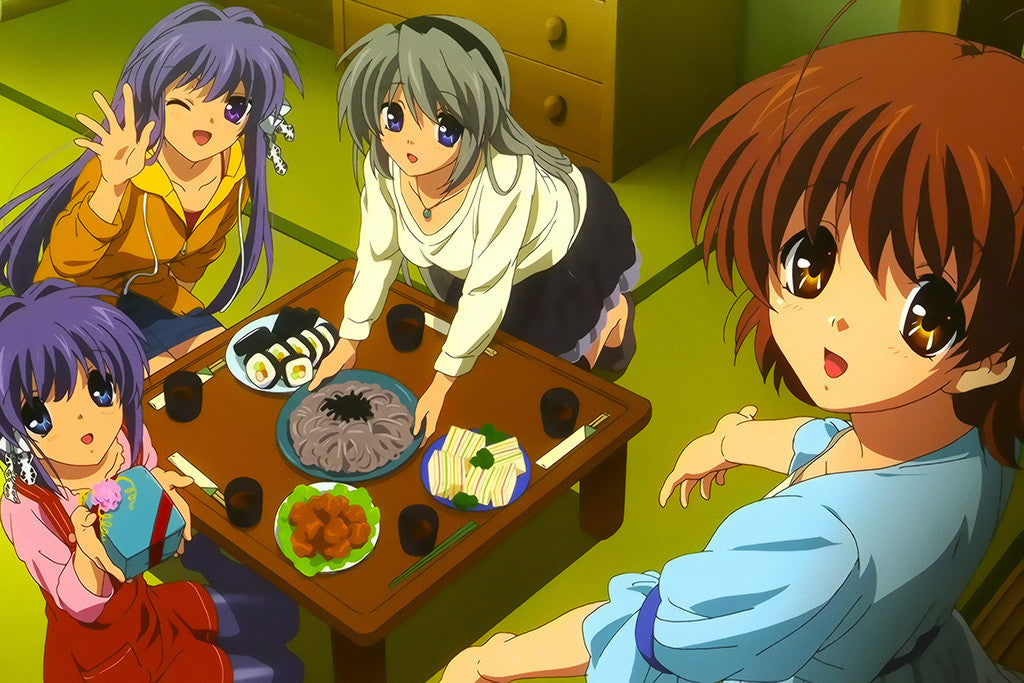 Clannad Characters Anime Poster
