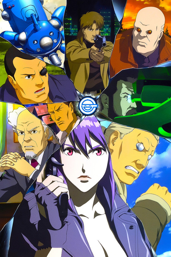 Ghost In The Shell Characters Anime Poster