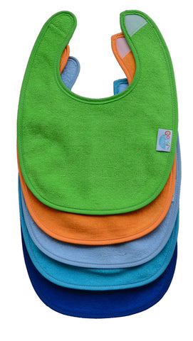 Cotton Terry Rounded Bibs - 5 pack